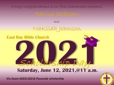 Scholarship Recipient Announcement website